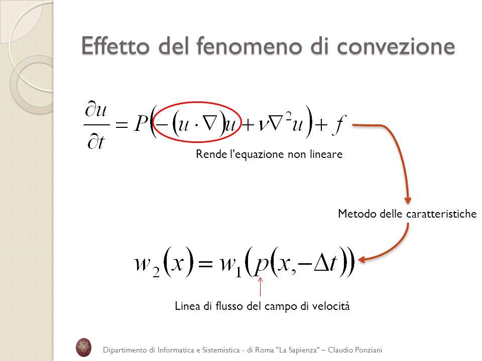 Effetto del fenomeno di convezione Dipartimento di Informatica e Sistemistica - di Roma