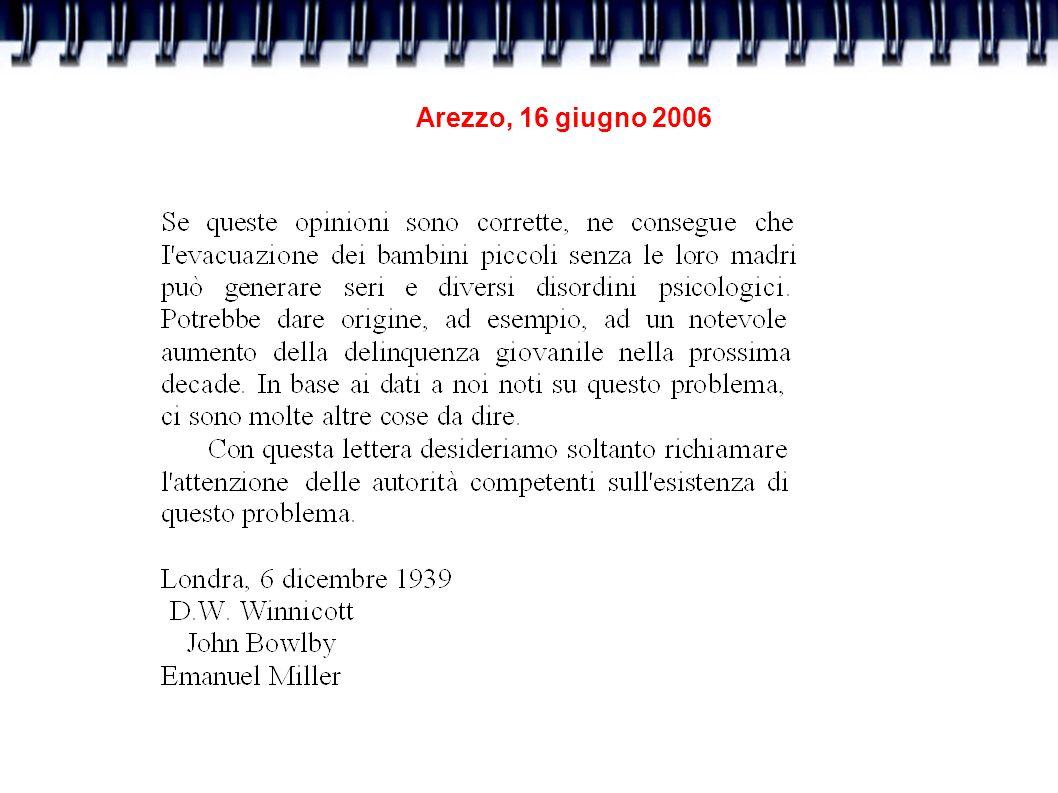 Arezzo, 16 giugno 2006 I modelli atipici: l attaccamento patologico.