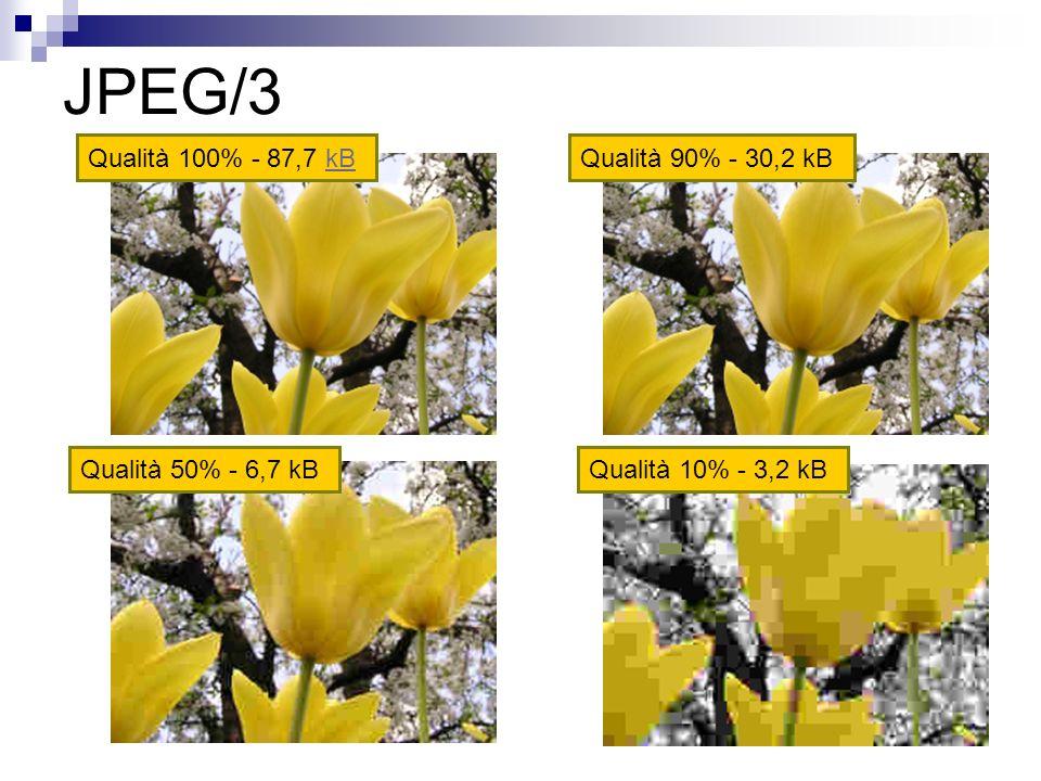 JPEG/3 Qualità 100% - 87,7 kBkBQualità 90% - 30,2 kB Qualità 50% - 6,7 kBQualità 10% - 3,2 kB