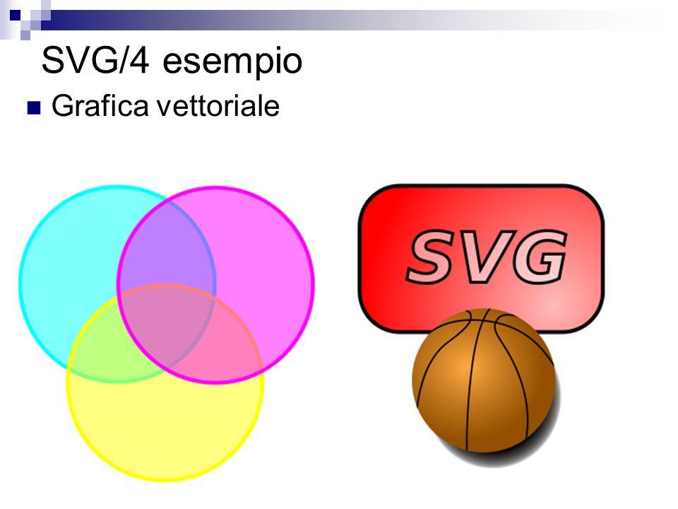 SVG/4 esempio Grafica vettoriale
