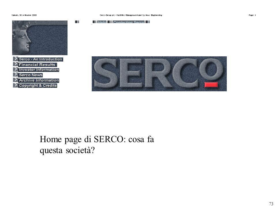 73 Home page di SERCO: cosa fa questa società?