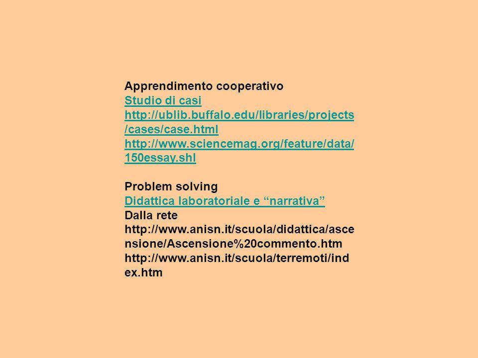 COOPERATIVE LEARNING APPRENDERE AD INSEGNARE IN MODO COOPERATIVO
