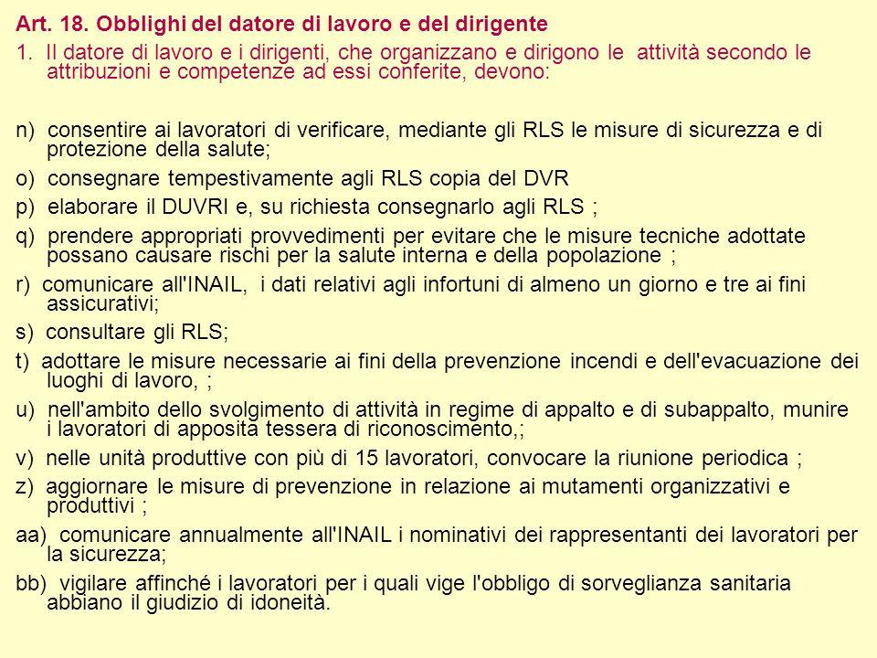 19 Pavia 3 aprile 2013 5° Incontro –OBBLIGHI tra Aziende (il DUVRI)