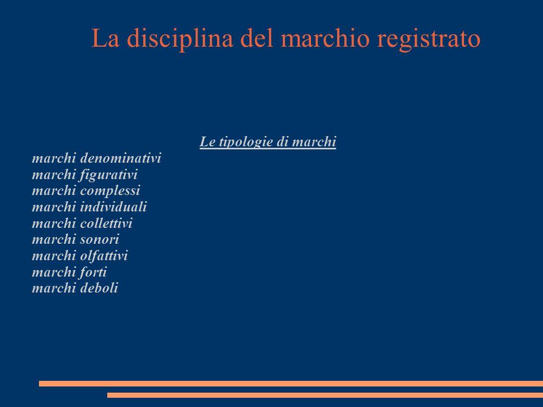 La disciplina del marchio registrato Il rispetto di diritti pregressi di terzi Art.