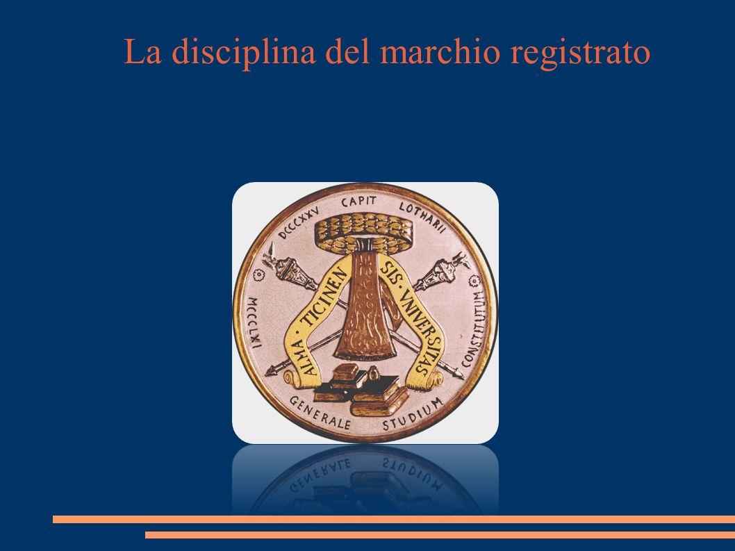 La disciplina del marchio registrato La liceità Art.