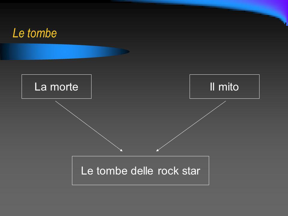 Le tombe La morteIl mito Le tombe delle rock star
