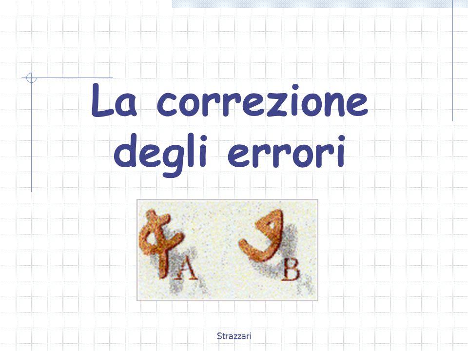 Strazzari La correzione degli errori