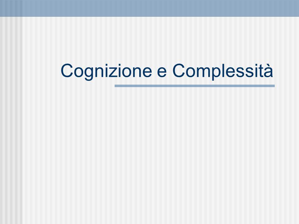 Cognizione e Complessità
