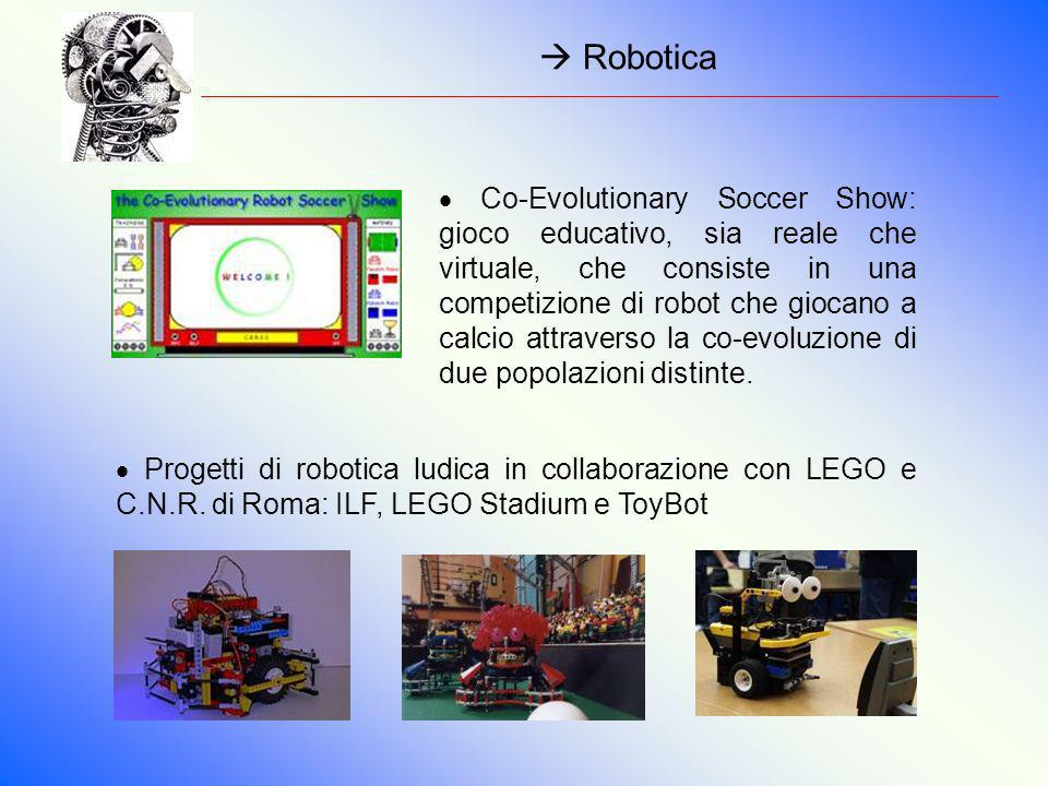 Robotica Co-Evolutionary Soccer Show: gioco educativo, sia reale che virtuale, che consiste in una competizione di robot che giocano a calcio attraver