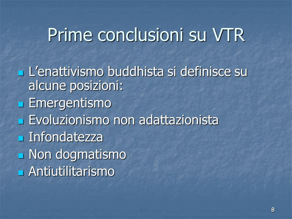 8 Prime conclusioni su VTR Lenattivismo buddhista si definisce su alcune posizioni: Lenattivismo buddhista si definisce su alcune posizioni: Emergenti