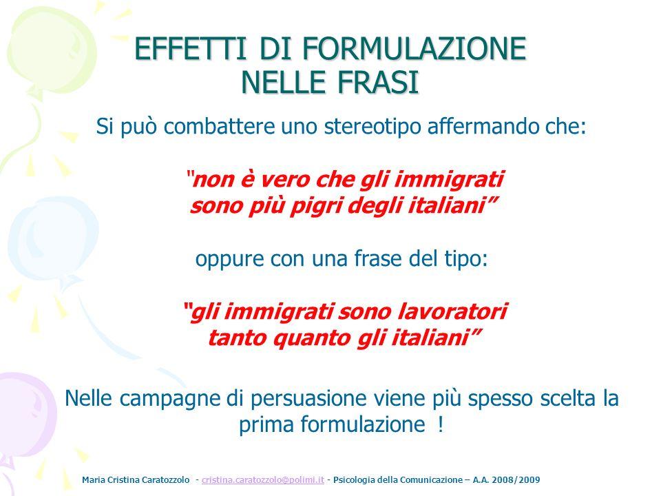Maria Cristina Caratozzolo - cristina.caratozzolo@polimi.it - Psicologia della Comunicazione – A.A. 2008/2009cristina.caratozzolo@polimi.it Si può com