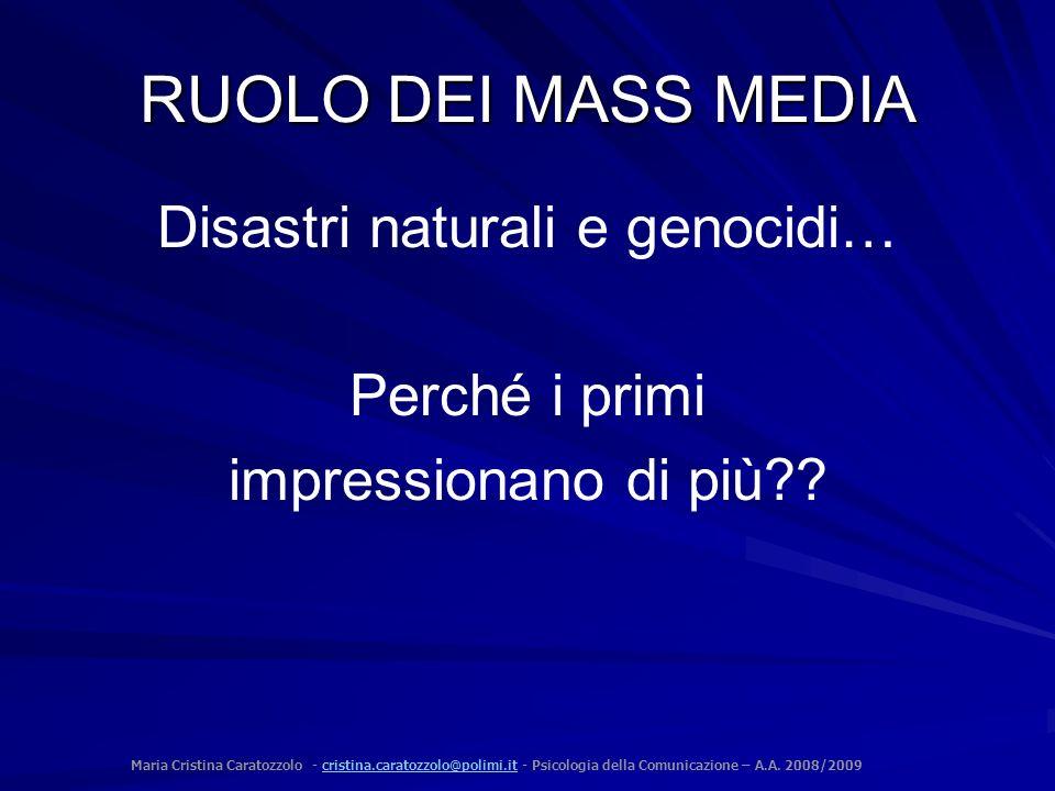Maria Cristina Caratozzolo - cristina.caratozzolo@polimi.it - Psicologia della Comunicazione – A.A. 2008/2009cristina.caratozzolo@polimi.it RUOLO DEI