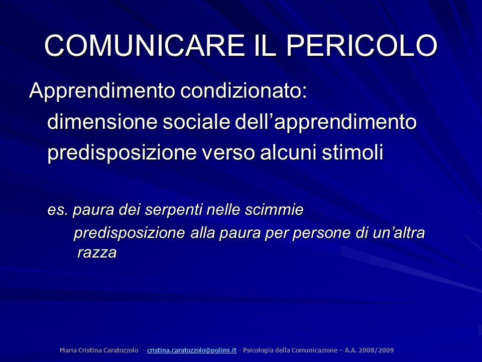 Maria Cristina Caratozzolo - cristina.caratozzolo@polimi.it - Psicologia della Comunicazione – A.A. 2008/2009cristina.caratozzolo@polimi.it COMUNICARE