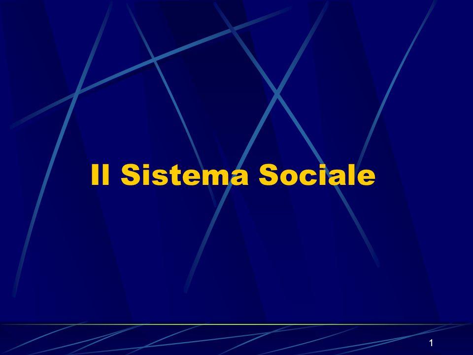 1 Il Sistema Sociale