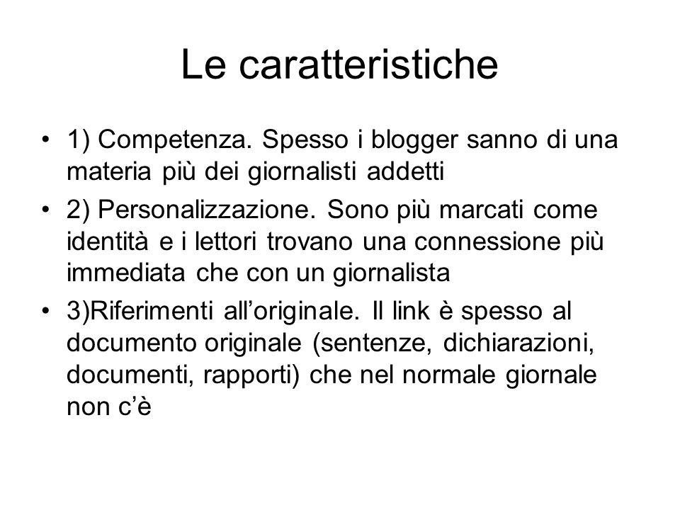 Le caratteristiche 1) Competenza.