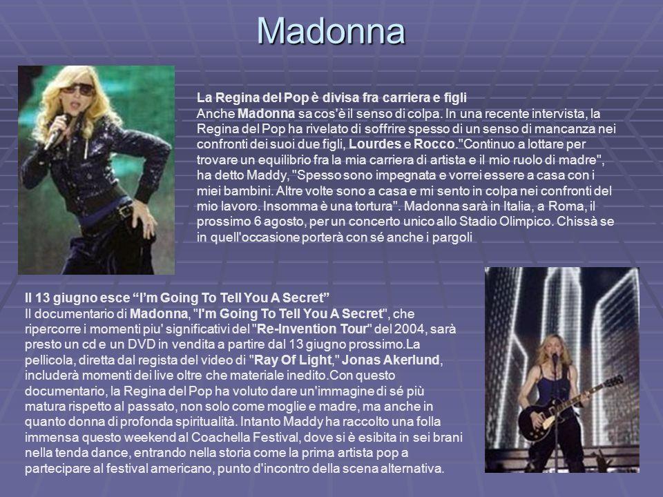 Madonna La Regina del Pop è divisa fra carriera e figli Anche Madonna sa cos'è il senso di colpa. In una recente intervista, la Regina del Pop ha rive