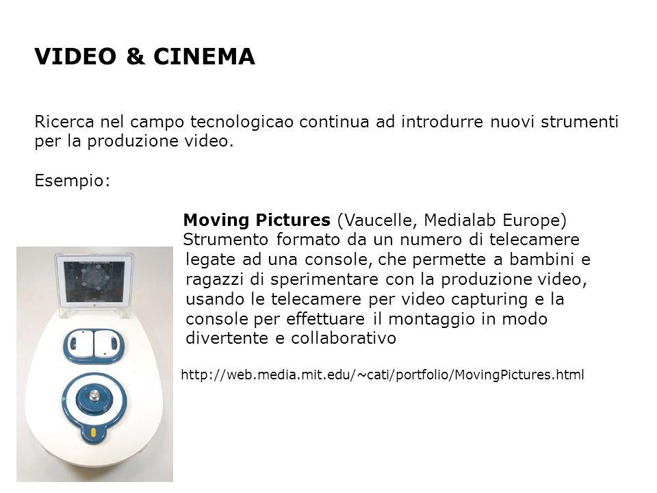 VIDEO & CINEMA Ricerca nel campo tecnologicao continua ad introdurre nuovi strumenti per la produzione video.