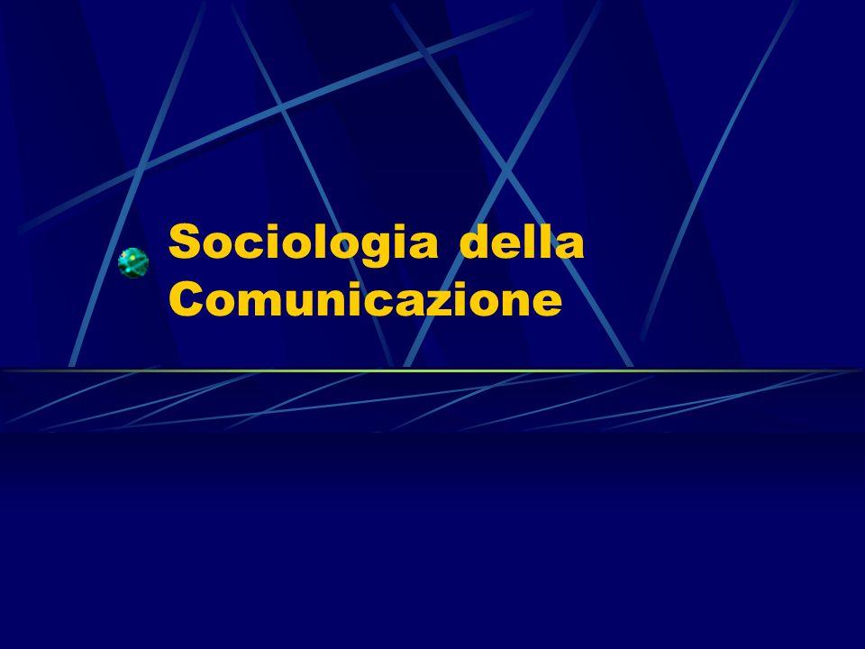 Studiare i media è oggi fondamentale 22 Tre sono le considerazioni introduttive che servono da contesto ad un tentativo di una teoria sui media.