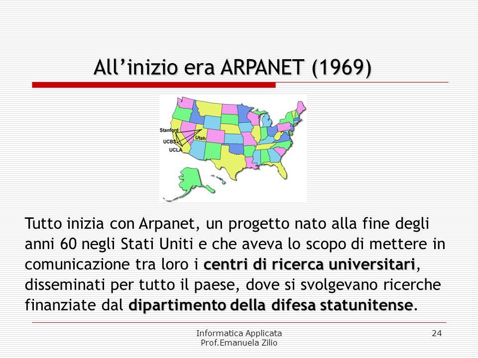 Informatica Applicata Prof.Emanuela Zilio 23 Interconnected Networks. La parola Internet vuole dire letteralmente