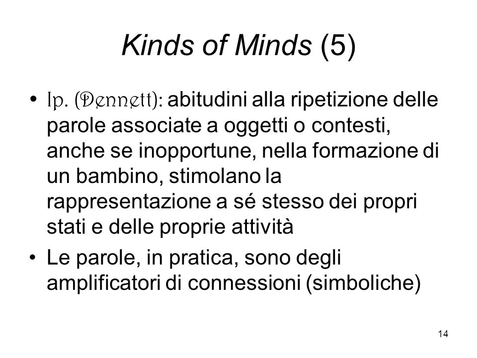 14 Kinds of Minds (5) Ip.