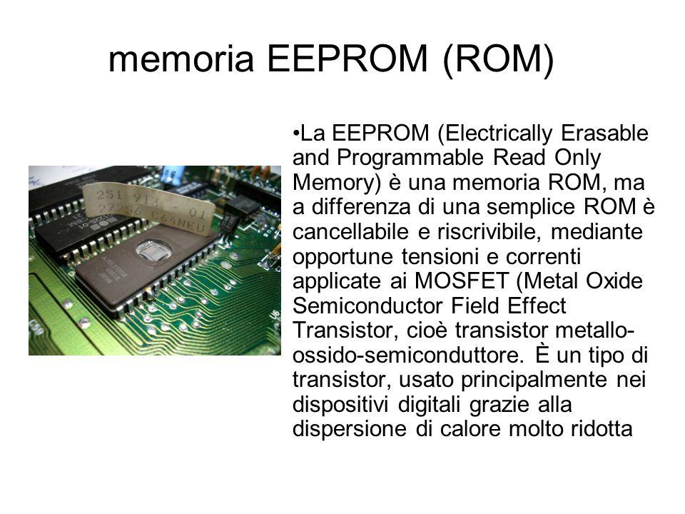 MEMORIA ROM Read Only Memory (Memoria a sola lettura) Contiene dati e istruzioni che non possono essere modificati, ma soltanto letti ed eseguiti*. So
