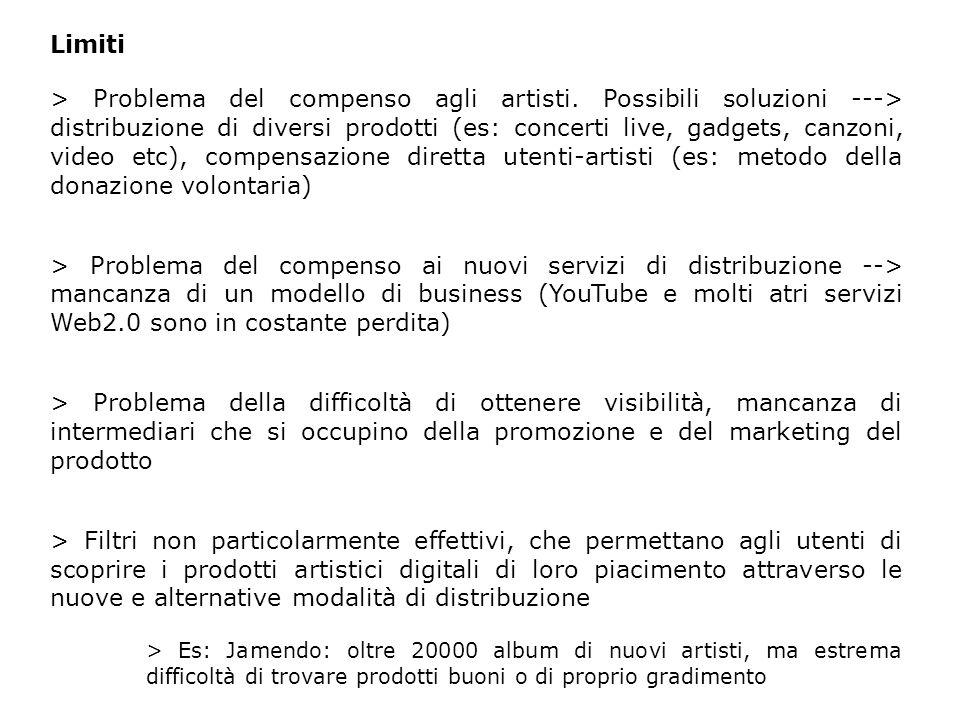 Limiti > Problema del compenso agli artisti.