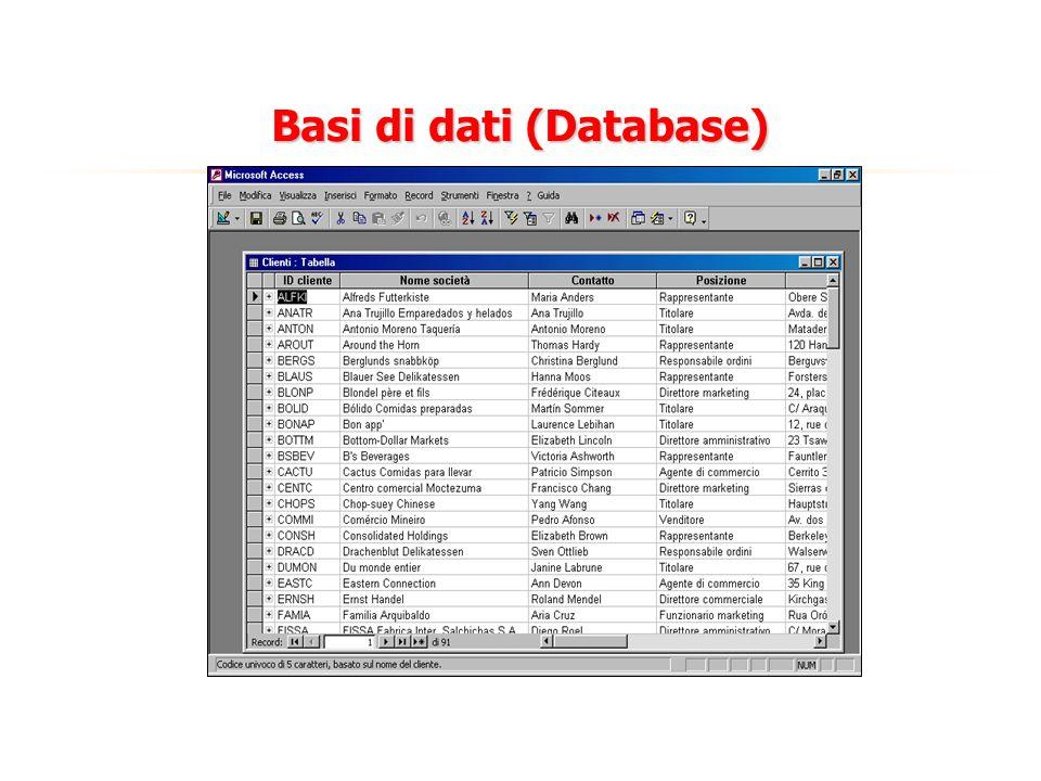 Basi di dati (Database)