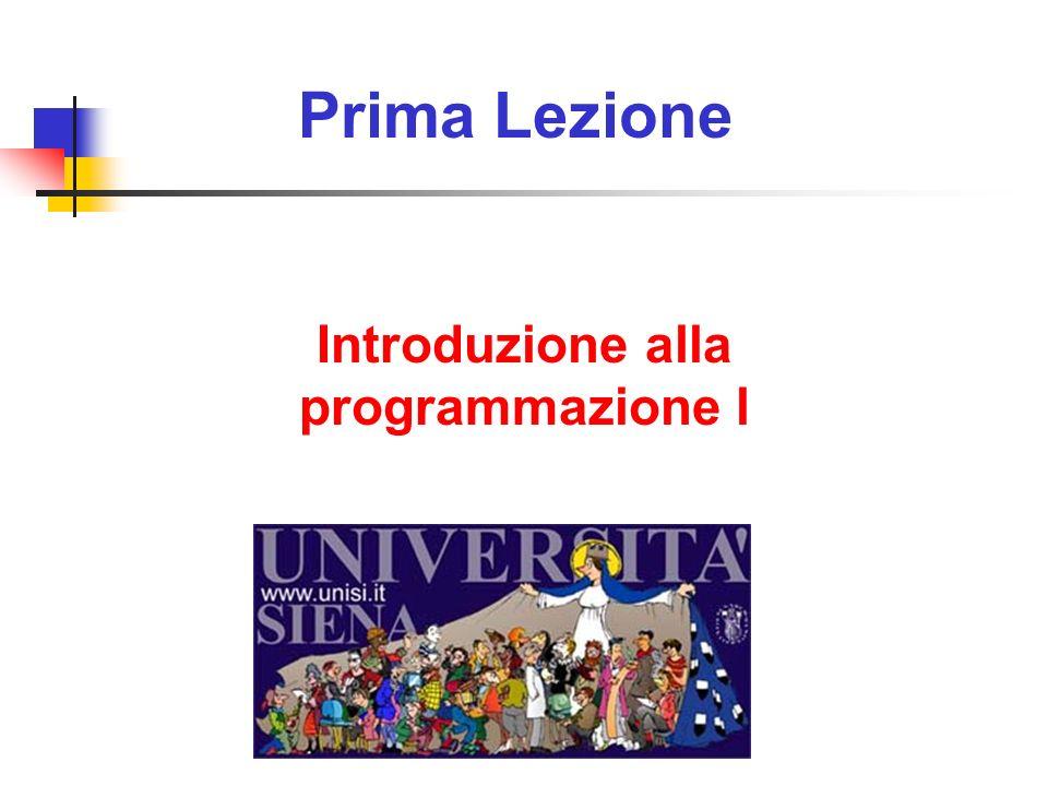 Prima Lezione Introduzione alla programmazione l