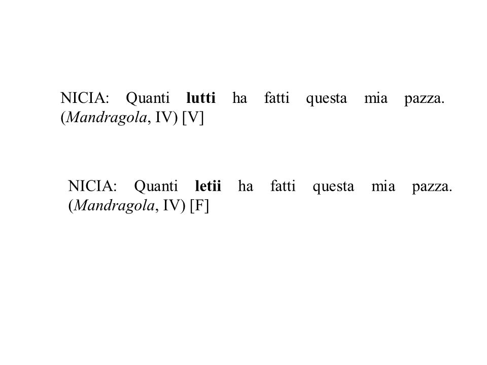 Esempio di errore separativo Cavalcanti, Donna me prega, v.