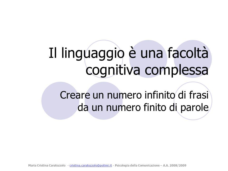 Nessuna lingua ha in sé lintero repertorio di fonemi Italiano=30; Inglese=45; Abkhaz=70 Alla nascita un neonato è in grado di produrre qualsiasi tipo di suono; tale capacità decresce e viene persa poco prima dellanno di vita.