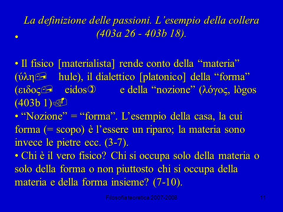 Filosofia teoretica 2007-200811 La definizione delle passioni.