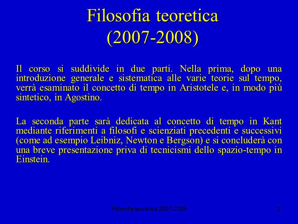 Filosofia teoretica 2007-200813 De Anima (I, 1) La definizione delle passioni.