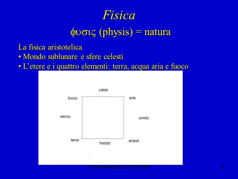 Filosofia teoretica 2007-200826 Le critiche di Aristotele a Zenone Di conseguenza, se la mossa effettuata è una sola, allora il tempo del medesimo movimento di un B è uguale ad un atomo temporale( t=1), qualora lo spazio percorso da B sia calcolato rispetto al numero degli incroci con gli A; è viceversa uguale a due atomi temporali (t=2), qualora lo spazio percorso da B sia calcolato rispetto agli incroci con i C.