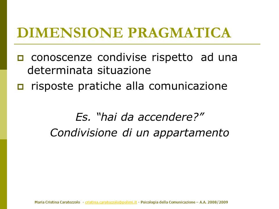 Maria Cristina Caratozzolo - cristina.caratozzolo@polimi.it - Psicologia della Comunicazione – A.A. 2008/2009cristina.caratozzolo@polimi.it DIMENSIONE