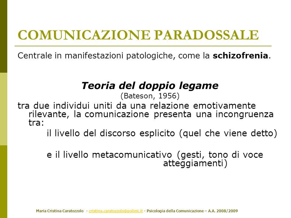 Maria Cristina Caratozzolo - cristina.caratozzolo@polimi.it - Psicologia della Comunicazione – A.A. 2008/2009cristina.caratozzolo@polimi.it Centrale i