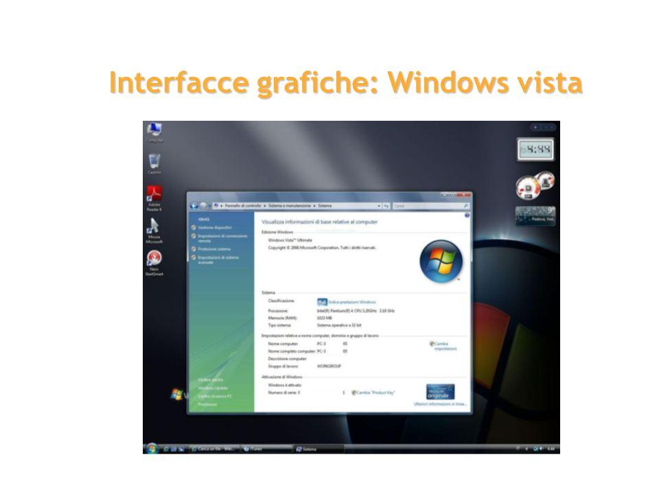 Interfacce grafiche: Windows vista