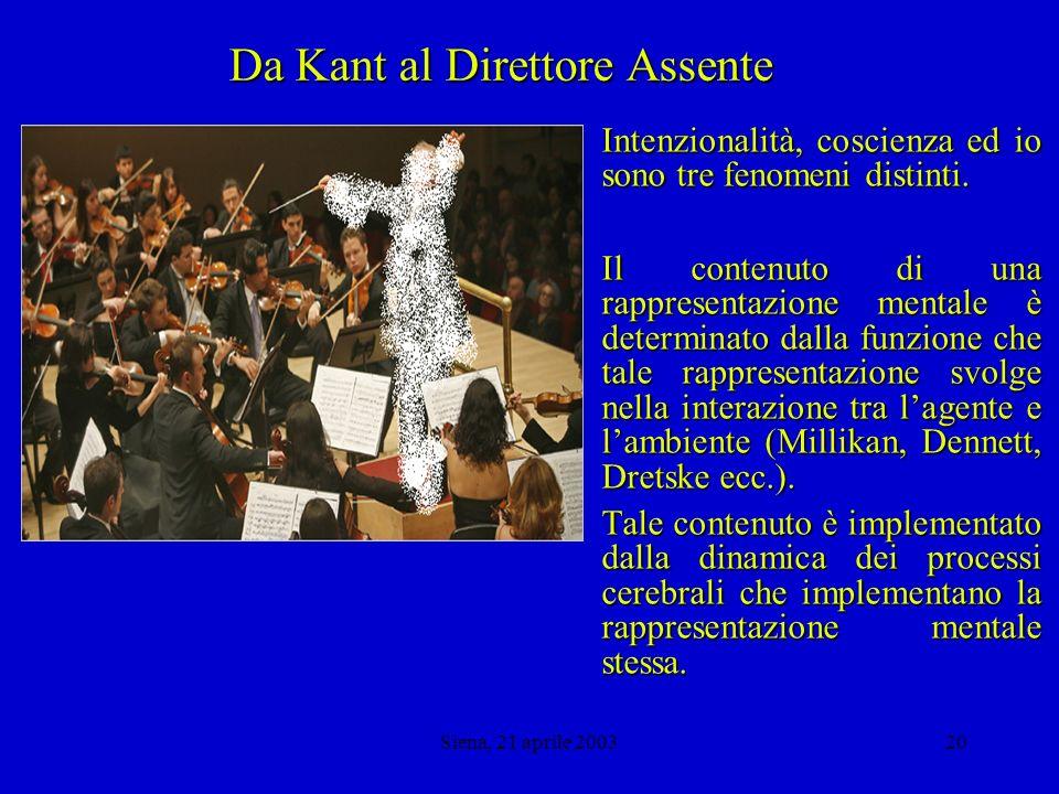 Siena, 21 aprile 200319 Da Hume a D.C.