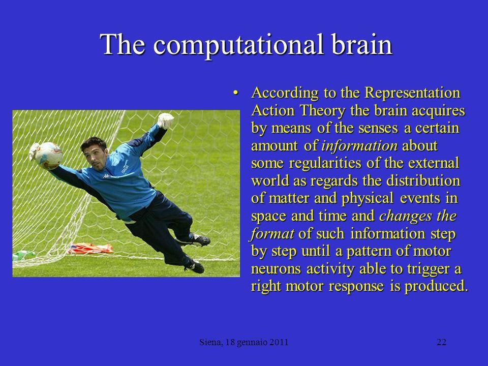 Siena, 18 gennaio 201123 Styles of brain computation No!!.