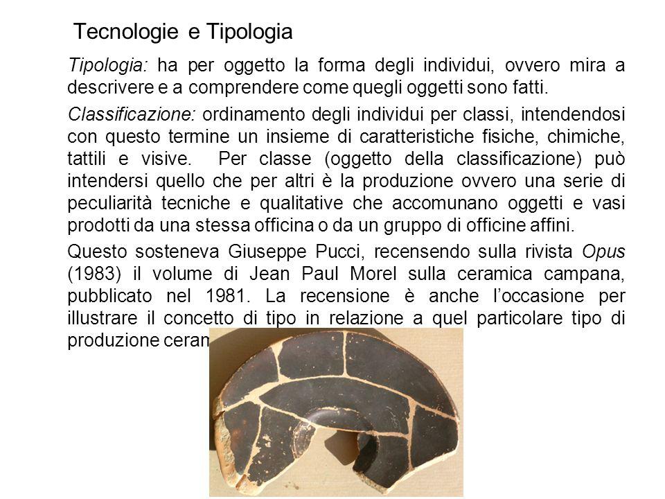 Bibliografia essenziale G.Pucci, Ceramica, tipi, segni, in Opus II, 1983, 1, 273-288 A.