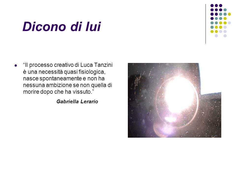 Il processo creativo di Luca Tanzini è una necessità quasi fisiologica, nasce spontaneamente e non ha nessuna ambizione se non quella di morire dopo che ha vissuto.