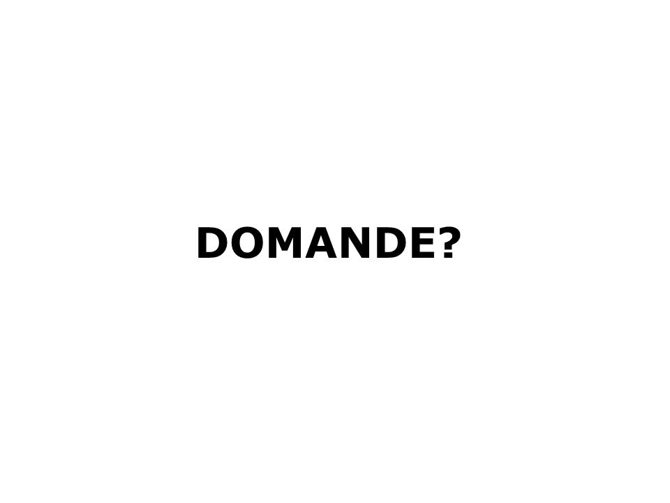 DOMANDE?