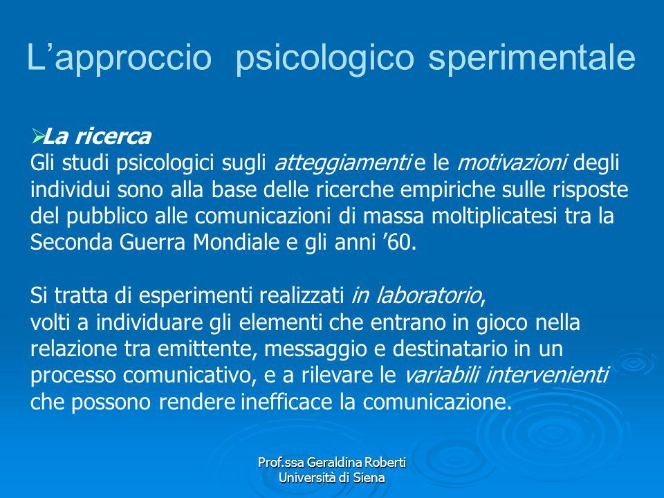 Prof.ssa Geraldina Roberti Università di Siena Le variabili intervenienti Contribuiscono, in certe condizioni, a facilitare il flusso delle comunicazi
