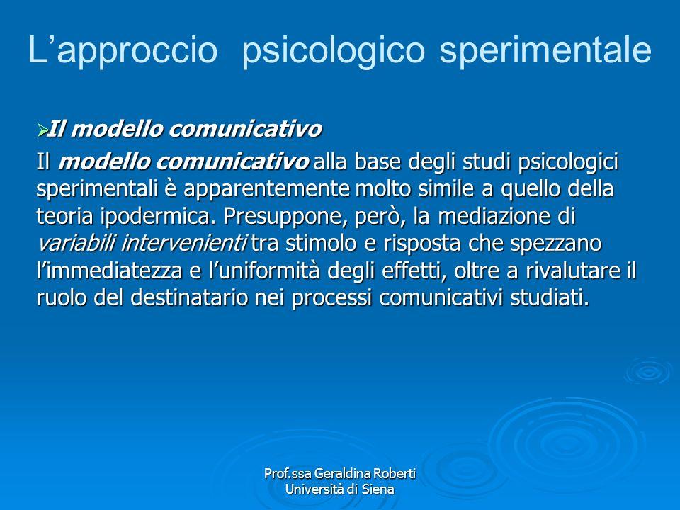 Prof.ssa Geraldina Roberti Università di Siena Latteggiamento Il concetto di atteggiamento sottolinea le differenze individuali acquisite per apprendi