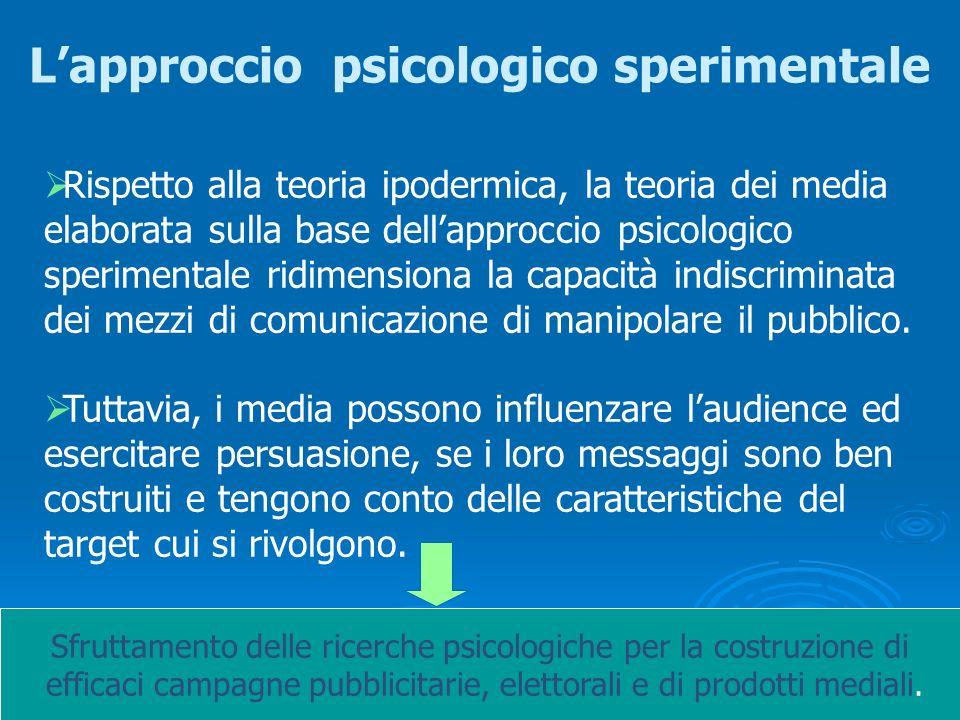 Prof.ssa Geraldina Roberti Università di Siena La teoria dei media La teoria dei media Alla base cè la convinzione che la persuasione sia un obiettivo