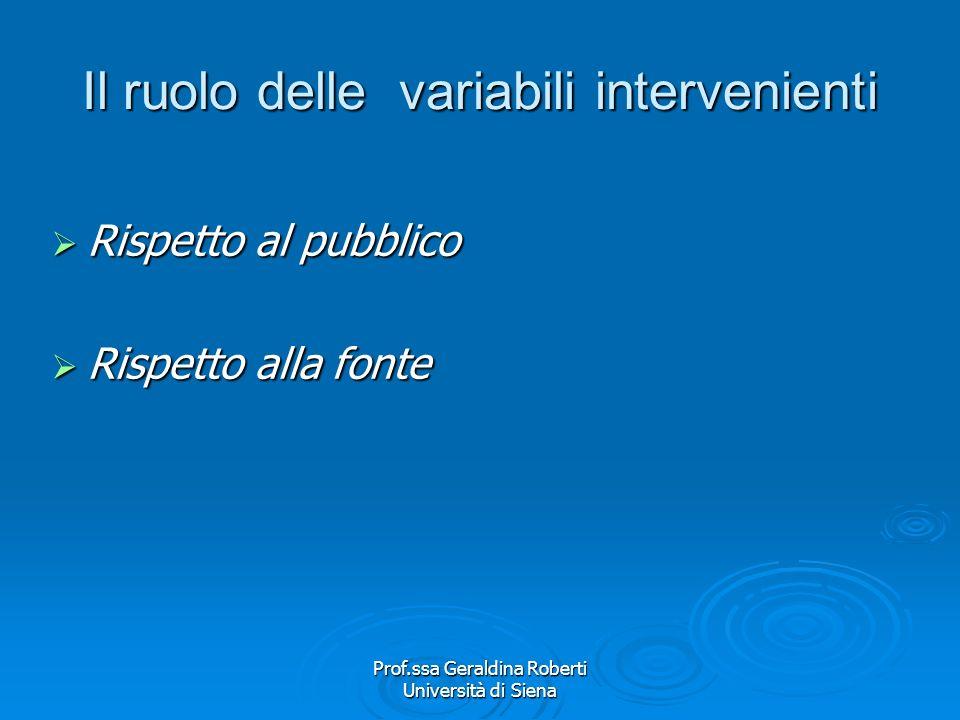 Prof.ssa Geraldina Roberti Università di Siena Carl Hovland Gli studi più significativi e conosciuti nellambito dellapproccio psicologico sperimentale