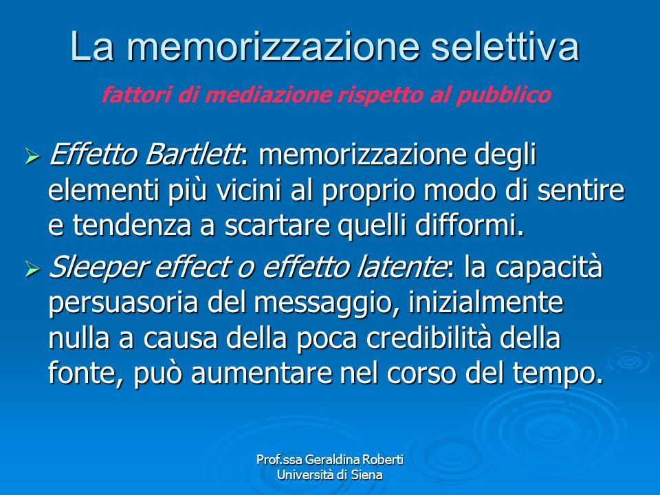 Prof.ssa Geraldina Roberti Università di Siena - link - Dissonanza cognitiva Il nostro comportamento è influenzato da numerosi fattori (bisogni, paure