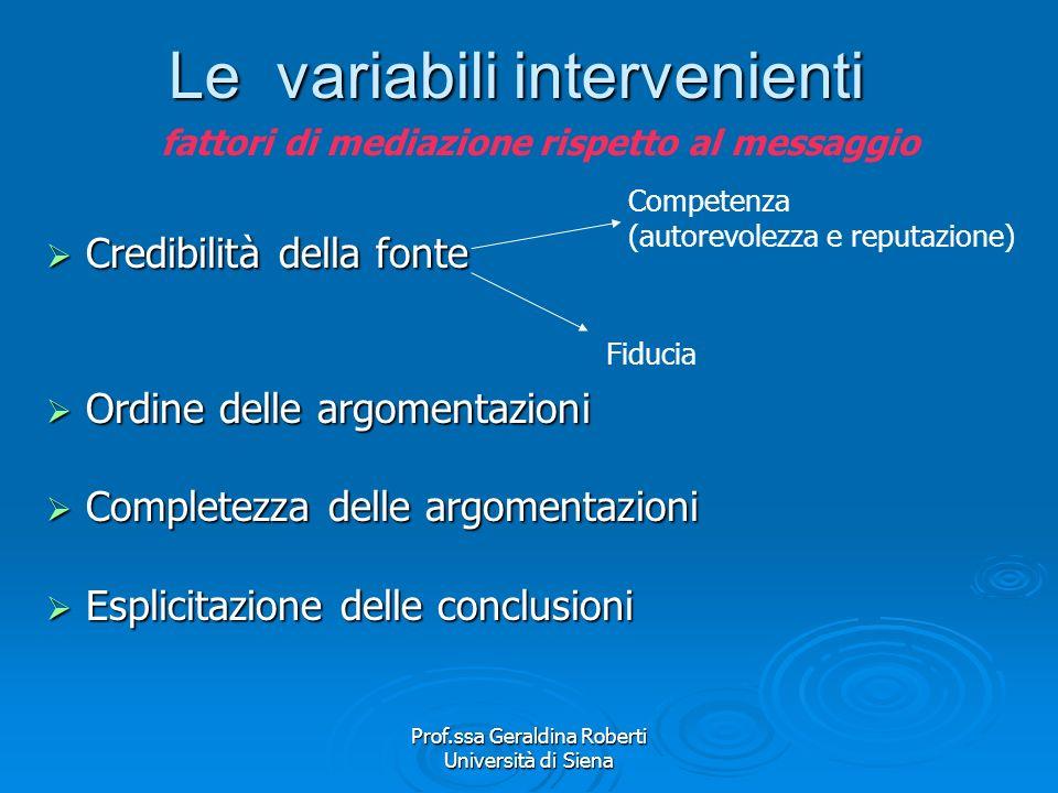 Prof.ssa Geraldina Roberti Università di Siena La memorizzazione selettiva Effetto Bartlett: memorizzazione degli elementi più vicini al proprio modo
