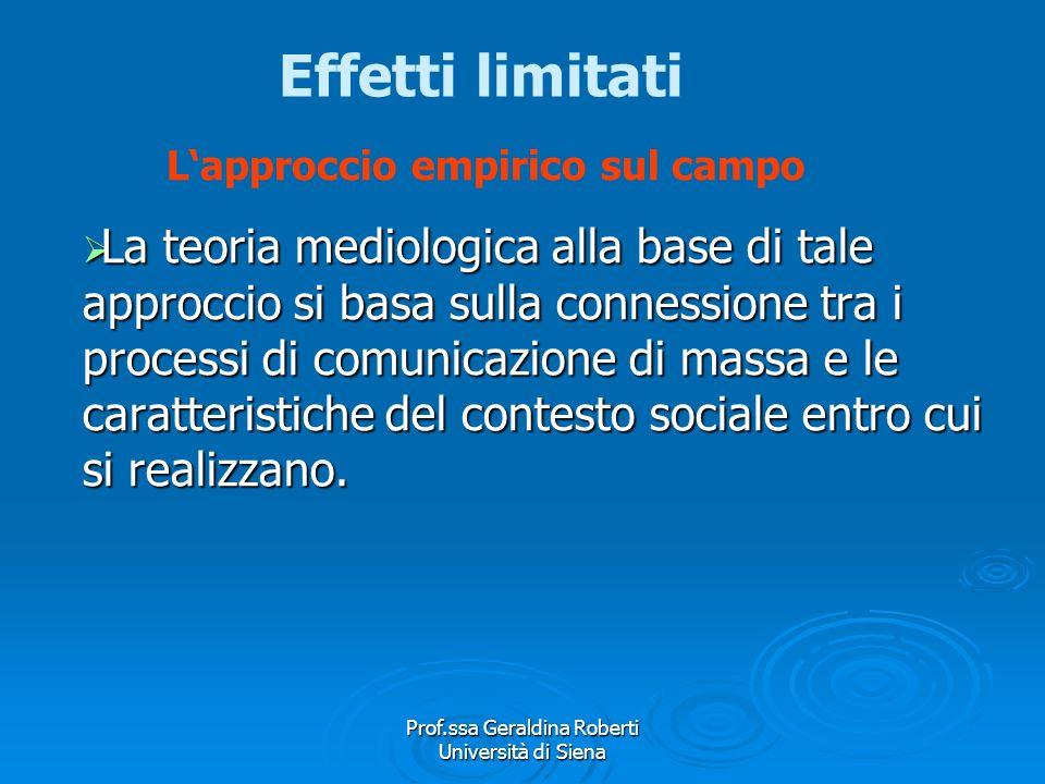 Prof.ssa Geraldina Roberti Università di Siena Lapproccio empirico sul campo Lapproccio sociologico empirico realizza ricerche sul campo. Non ricostru
