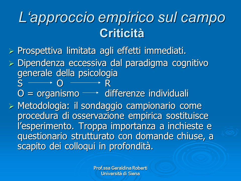 Prof.ssa Geraldina Roberti Università di Siena MassaPubblico PASSIVA ATTIVO