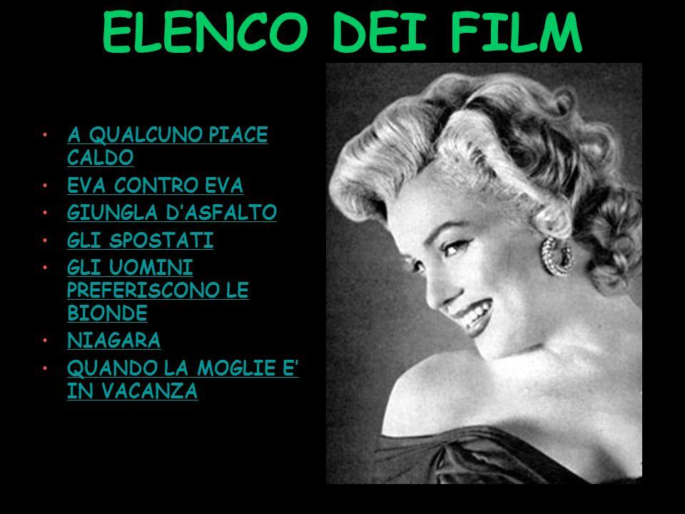 FILMOGRAFIA DI MARYLIN MONROE Tutti i suoi maggior successi!